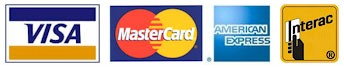 Storage facility accepts visa, mastercard, amex, interac payments