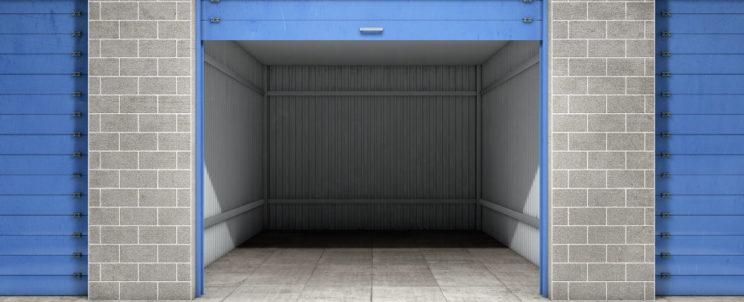 Self storage facility room locker